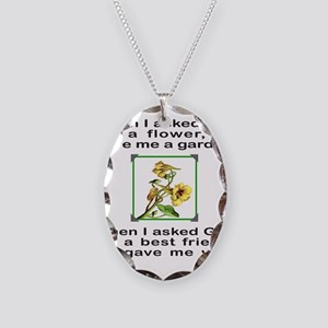 BFF GOD GAVE ME YOU Necklace Oval Charm