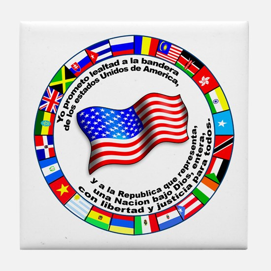 Circle of Flags and Pledge of Allegiance Tile Coas