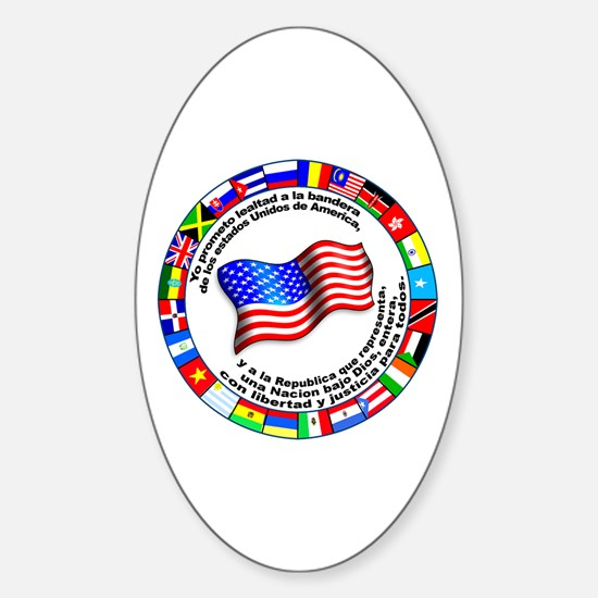 Circle of Flags and Pledge of Allegiance Decal