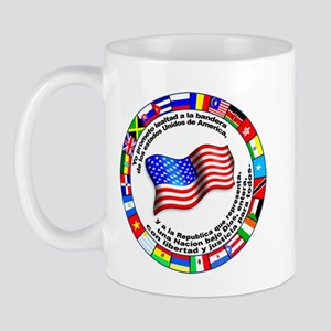 Circle of Flags and Pledge of Allegiance Mug