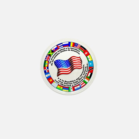 Circle of Flags and Pledge of Allegiance Mini Butt