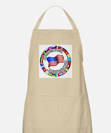 Circle of Flags and Pledge of Allegiance BBQ Apron