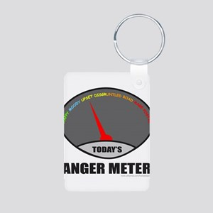 ANGER METER Aluminum Photo Keychain