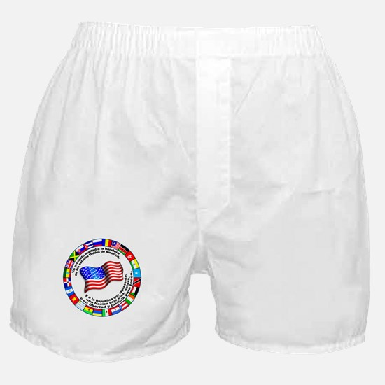 Circle of Flags and Pledge of Allegiance Boxer Sho