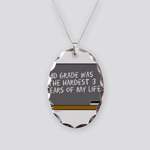 SCHOOL DUNCE Necklace Oval Charm