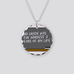 SCHOOL DUNCE Necklace Circle Charm