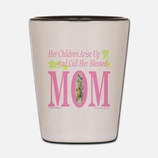 BLESSED MOM Shot Glass