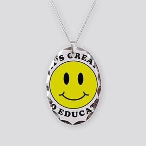 IT'S GREAT TO EDUCATE Necklace Oval Charm