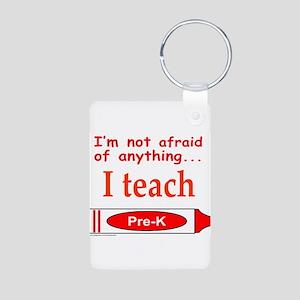 TEACH PRE-K Aluminum Photo Keychain