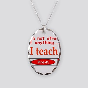 TEACH PRE-K Necklace Oval Charm