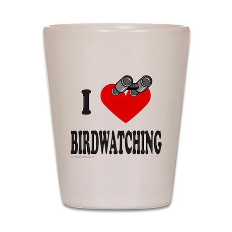 I HEART BIRDWATCHING Shot Glass