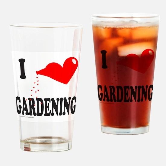 I HEART GARDENING Drinking Glass