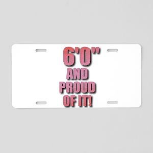 6 foot Aluminum License Plate