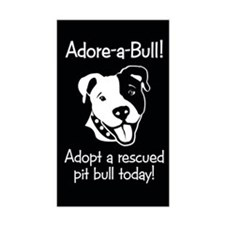Adore-A-Bull 2! Rectangle Sticker
