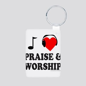 I HEART PRAISE & WORSHIP Aluminum Photo Keychain