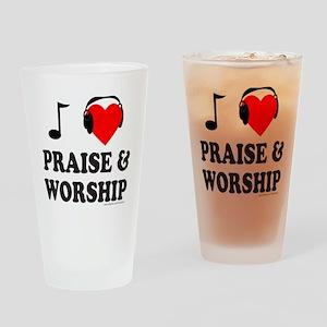 I HEART PRAISE & WORSHIP Drinking Glass