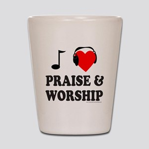 I HEART PRAISE & WORSHIP Shot Glass