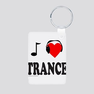 TRANCE MUSIC Aluminum Photo Keychain