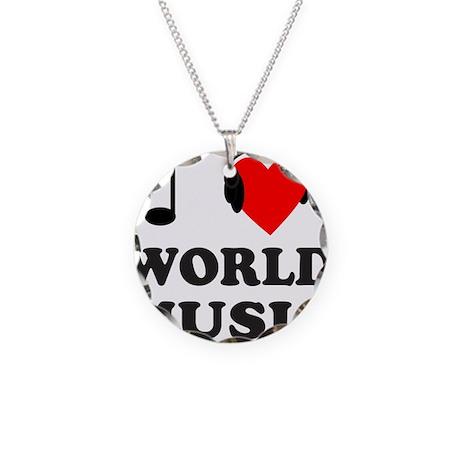 WORLD MUSIC Necklace Circle Charm