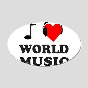 WORLD MUSIC 22x14 Oval Wall Peel