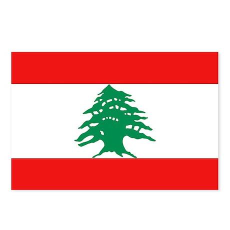 Lebanese Flag Postcards (Package of 8)