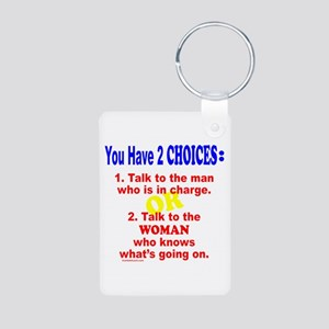 WORK/JOB HUMOR Aluminum Photo Keychain
