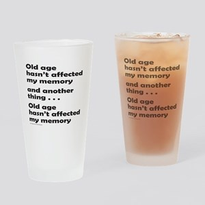 OLD AGE Drinking Glass