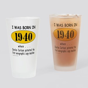 BORN IN 1940 Drinking Glass