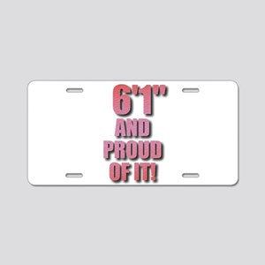6 foot 1 Aluminum License Plate