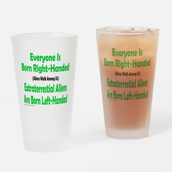 Unique Left hander Drinking Glass