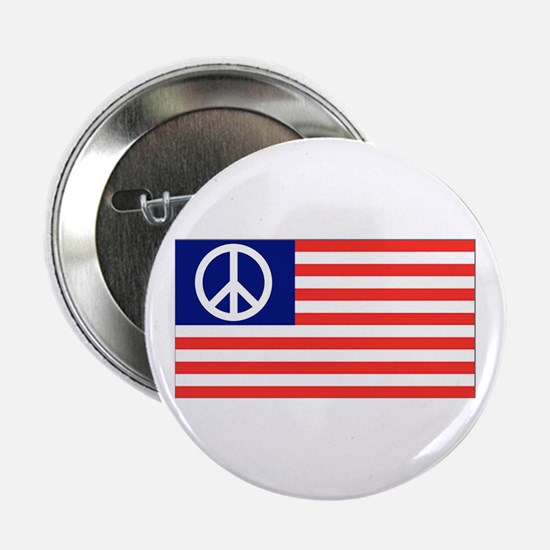American Peace Flag Button
