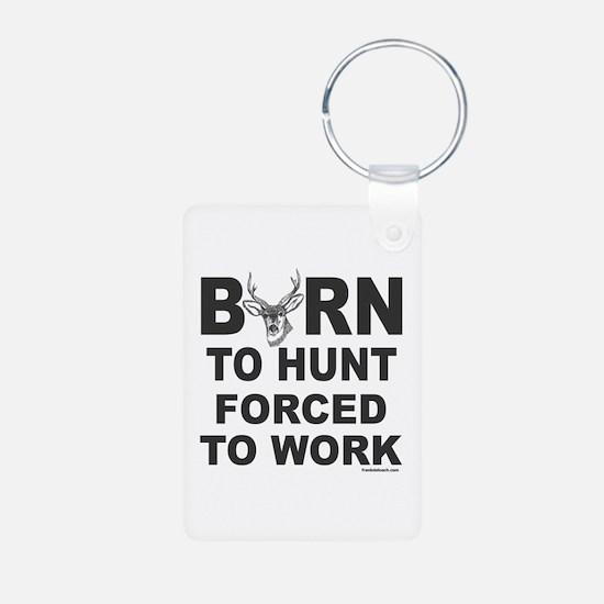BORN TO HUNT Aluminum Photo Keychain