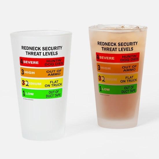 REDNECK SECURITY THREAT Drinking Glass