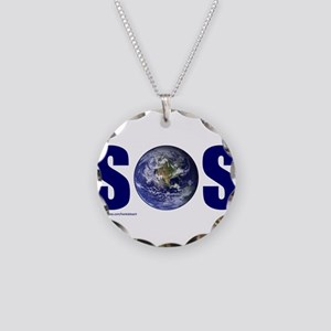 SOS EARTH Necklace Circle Charm