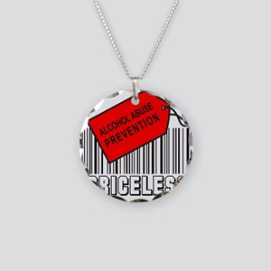 ALCOHOL ABUSE PREVENTION Necklace Circle Charm