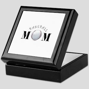 Baseball Mom (swirls) Keepsake Box