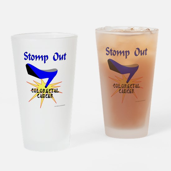 COLORECTAL CANCER Drinking Glass