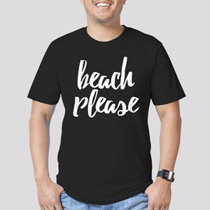 Beach Please Men's Fitted T-Shirt (dark)