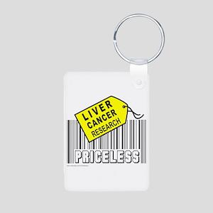 LIVER CANCER CAUSE Aluminum Photo Keychain