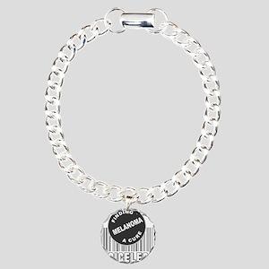 MELANOMA FINDING A CURE Charm Bracelet, One Charm