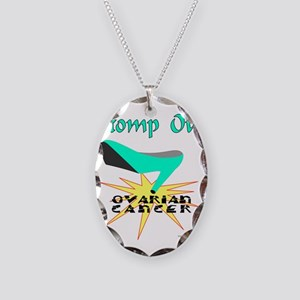 OVARIAN CANCER AWARENESS Necklace Oval Charm