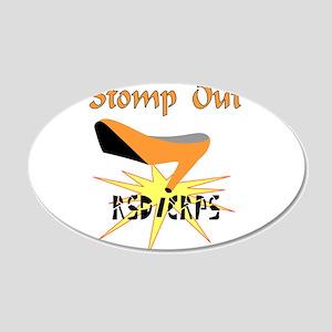 RSD/CRPS AWARENESS 22x14 Oval Wall Peel
