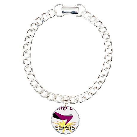 SEPSIS AWARENESS Charm Bracelet, One Charm