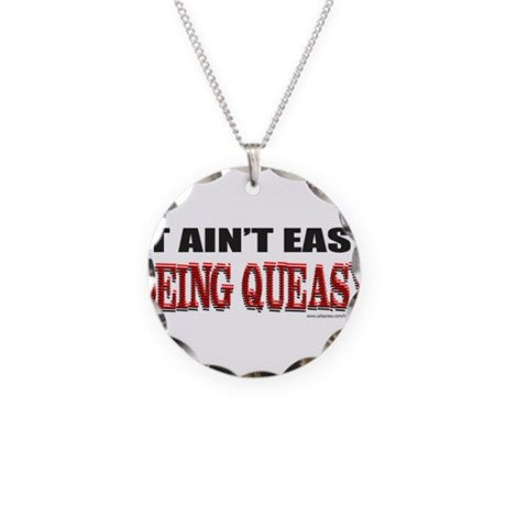 BEING QUEASY Necklace Circle Charm