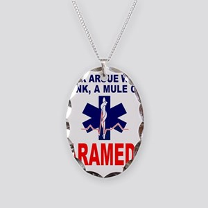 PARAMEDIC/EMT Necklace Oval Charm