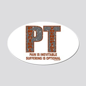 PHYSICAL THERAPIST 22x14 Oval Wall Peel