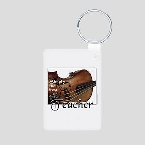 BEST TEACHER Aluminum Photo Keychain