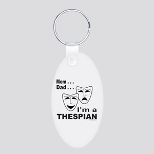 ACTOR/ACTRESS/THESPIAN Aluminum Oval Keychain