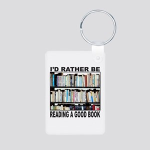 BOOK LOVER Aluminum Photo Keychain