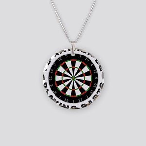 DARTBOARD/DARTS Necklace Circle Charm